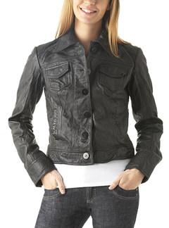Promod short leather jacket - £99