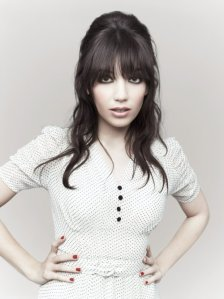 Daisy Lowe models Pearl Dress